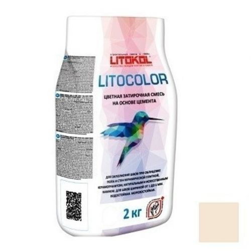 Смесь затирочная цементная для швов Litokol Litocolor L.20 Жасмин 2 кг