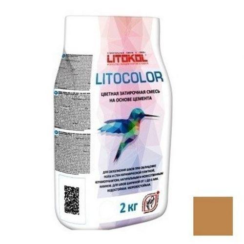 Смесь затирочная цементная для швов Litokol Litocolor L.25 коричневая 2 кг