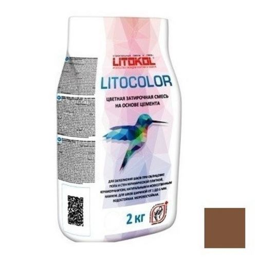 Смесь затирочная цементная для швов Litokol Litocolor L.26 Какао 2 кг