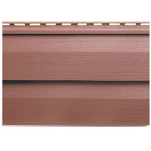 Сайдинг Альта Профиль Kanada Плюс Премиум красно-коричневый 3600 мм
