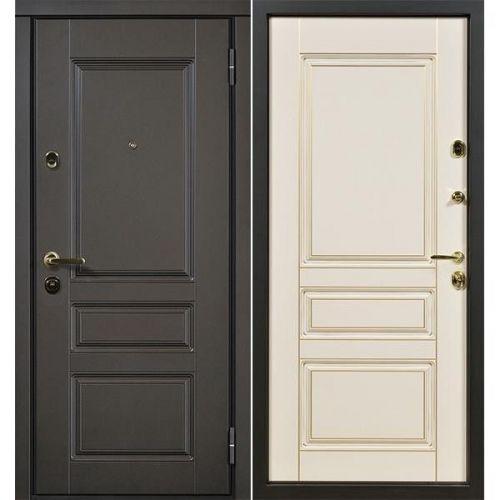 Дверь входная металлическая Сталлер Сорренто правая 860x2050 мм снаружи и внутри МДФ с покрытием эмаль