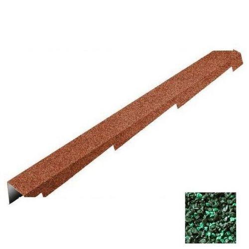 Планка торцевая Metrotile зеленая левая