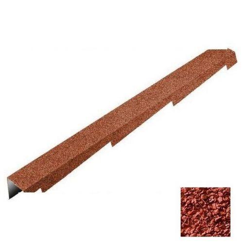 Планка торцевая Metrotile красная левая