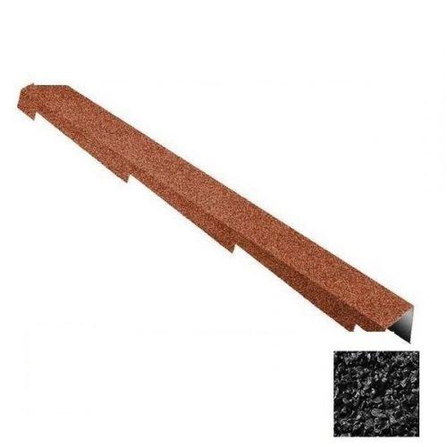 Планка торцевая Metrotile черная правая