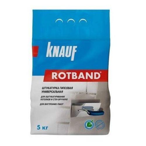 Штукатурка гипсовая универсальная Knauf Ротбанд серая 5 кг
