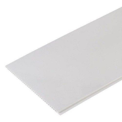 Стеновая панель ПВХ Апласт матовая белая 2700х375 мм