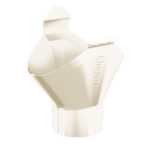 Воронка желоба Lindab OMV D125/87 мм 001 белая