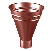 Воронка водосборная Lindab VATK D150/100 мм 758 красная