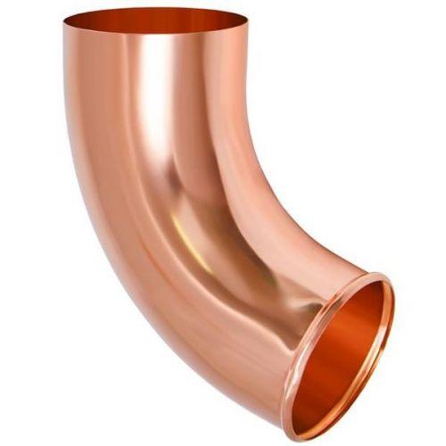 Отвод трубы Aquasystem D125/90 мм медь