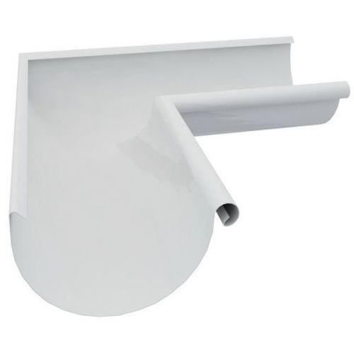 Угол желоба Grand Line D150/100 мм внешний 90 градусов RAL 9003 белый