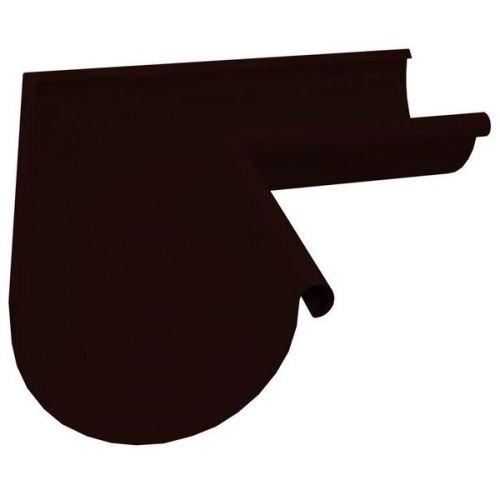 Угол желоба Grand Line D150/100 мм внешний 90 градусов RR 32 темно-коричневый