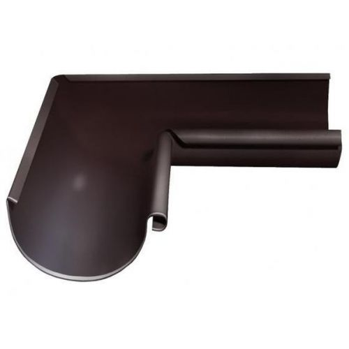 Угол желоба Grand Line D125/90 мм внутренний 90 градусов RAL 8017 коричневый