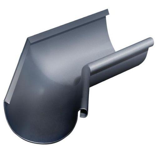 Угол желоба Grand Line D125/90 мм внутренний 135 градусов RAL 7024 серый