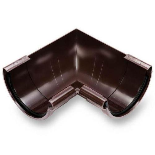 Угол желоба Galeco ПВХ D124/80 мм внутренний 90 градусов RAL 8019 коричневый