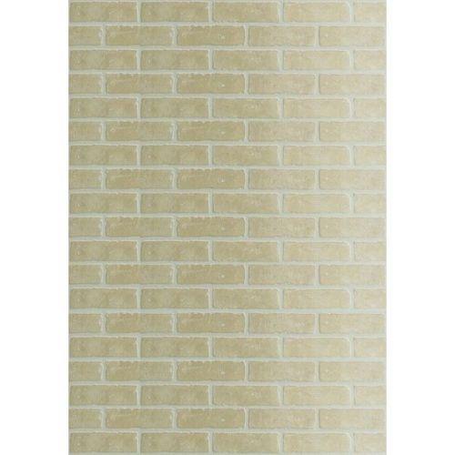 Стеновая панель ДВП DPI Кирпич желтый Бруклин 2440х1220 мм
