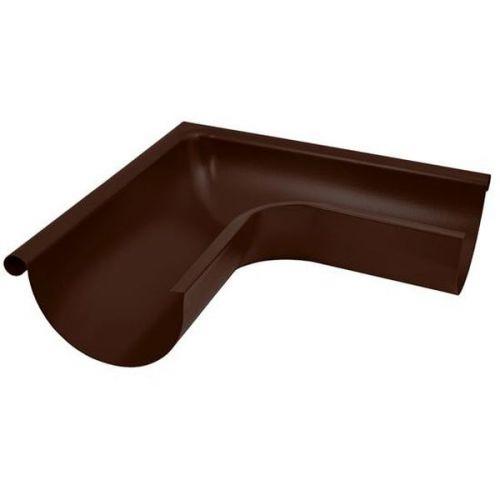 Угол желоба Aquasystem D125/90 мм внешний 90 градусов RAL 8017 коричневый