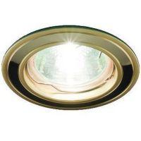 Светильник точечный встраиваемый Italmac Nika 51 0 22 MR16 золото с никелем 50 Вт