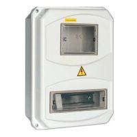 Корпус навесной пластиковый IEK ЩУРн-П 3/10 MSP310-3-55 IP55 с прозрачной крышкой