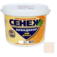 Антисептик тонирующий Сенеж Аквадекор 101 Иней 0,9 кг