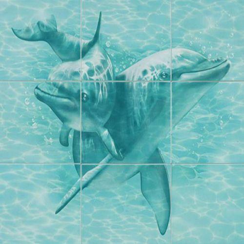 Панно керамическое Уралкерамика Лагуна Два дельфина ПН76Д