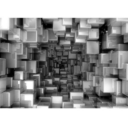 Фотообои виниловые на флизелиновой основе Decocode Кубическая абстракция 41-0179-AB 4х2,8 м