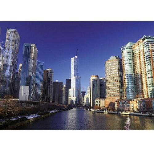 Фотообои виниловые на флизелиновой основе Decocode Небоскребы Чикаго 41-0025-WL 4х2,8 м