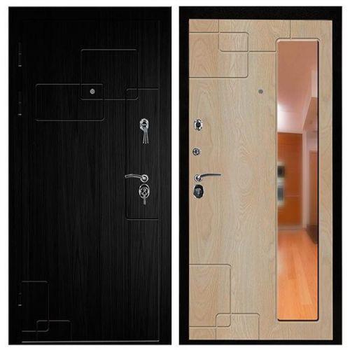 Дверь входная металлическая Промет С4 Дипломат Черный Муар 980x2060 мм левая с зеркалом