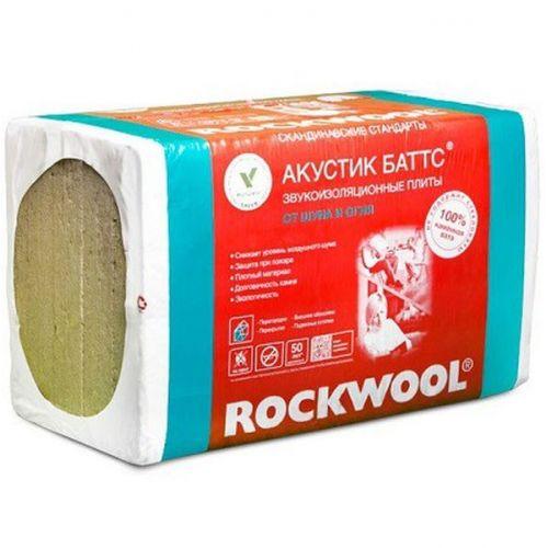 Базальтовая вата Rockwool Акустик Баттс 1000х600х100 мм 5 штук в упаковке