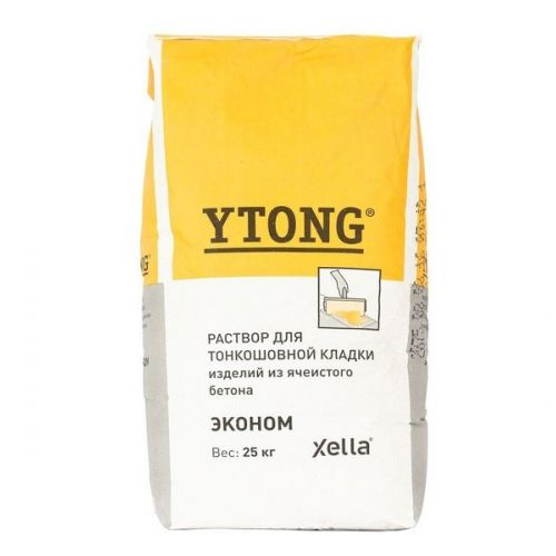 Раствор для тонкошовной кладки Ytong Эконом 25 кг