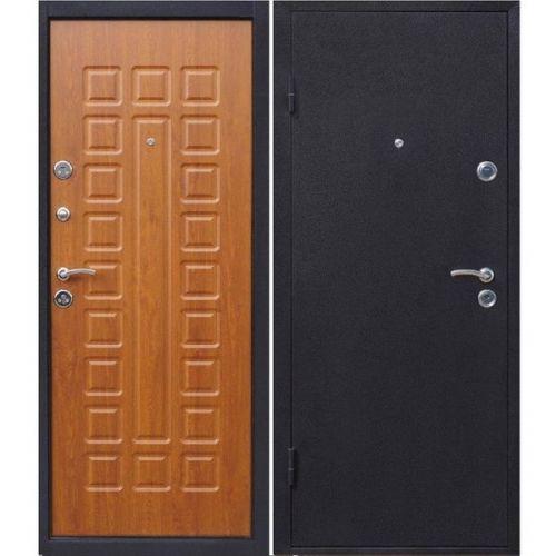 Дверь входная металлическая Йошкар Золотистый Дуб 860х2060 мм левая металл и МДФ 8 мм