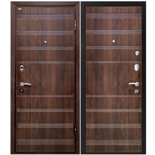 Дверь входная металлическая МеталЮр М1 960х2060 мм правая МДФ 12 мм Венге и МДФ 6 мм Венге