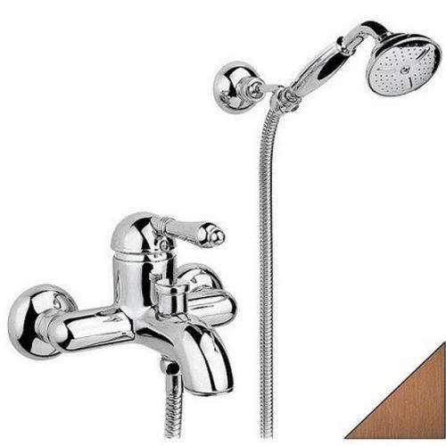 Смеситель для ванны Nicolazzi Petit M Blanc с душем бронза 3401BZ76