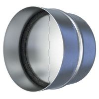 Соединитель металлический с защитой от обратной тяги Era 200СКЦ для круглых вентиляционных каналов D200