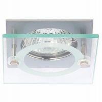 Светильник точечный встраиваемый Italmac Quartz 51 4 12 MR16 матовый хром 50 Вт