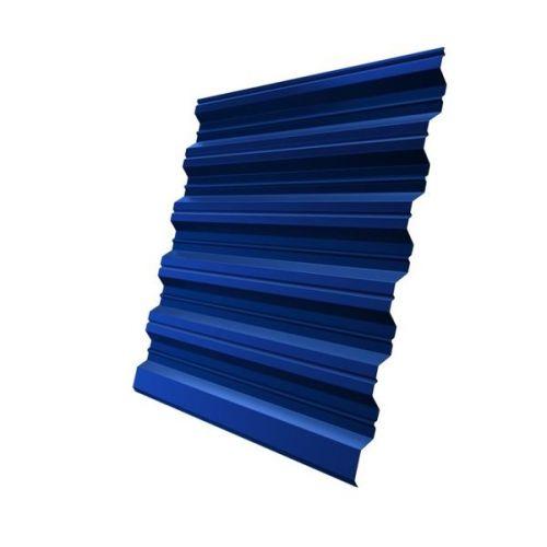 Профнастил НС35 Grand Line Optima Satin 0,5 мм RAL 5005 сигнальный синий