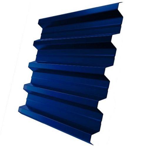 Профнастил Н60 Grand Line Pe 0,5 мм RAL 5005 сигнальный синий