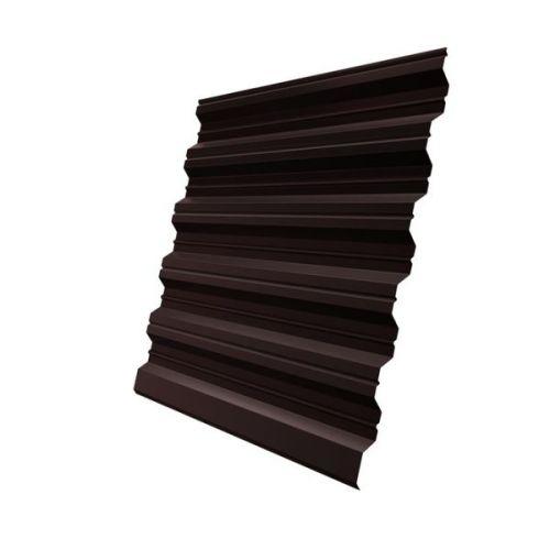 Профнастил НС35 Grand Line Optima Pe 0,8 мм RAL 8017 шоколадно-коричневый