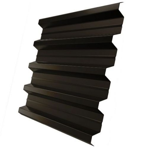 Профнастил Н60 Grand Line Pe 0,5 мм RR 32 темно-коричневый