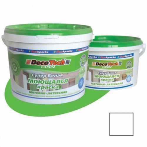 Краска моющаяся DecoTech Eco 3кг