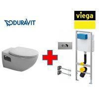 Комплект подвесной унитаз Duravit Duraplus с инсталляцией Viega Eco WC