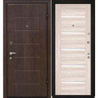 Дверь входная металлическая МеталЮр М7 960х2060 мм правая МДФ 12 мм Темный орех и МДФ 18 мм 7X Капучино