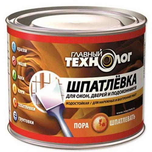 Шпатлевка для окон дверей и подоконников Новбытхим Главный Технолог 0,5 кг