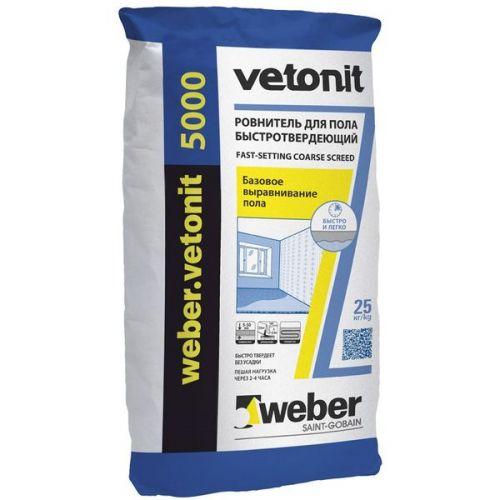 Ровнитель для пола быстротвердеющий Weber.Vetonit 5000 25 кг