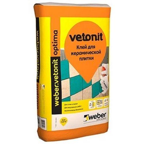 Клей для плитки Weber.Vetonit Optima 25 кг