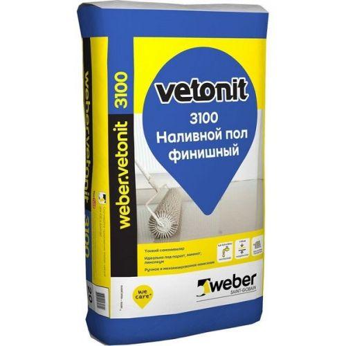 Пол наливной финишный Weber.Vetonit 3100 20 кг