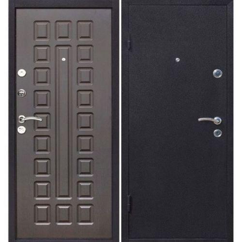 Дверь входная металлическая Йошкар Венге 860х2060 мм левая металл и МДФ 8 мм