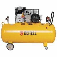 Компрессор DR3000/200, масляный ременной, 10 бар, производительность 520 л/м, мощность 3 кВт Denzel - 58089