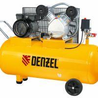 Компрессор пневматический, 2,2 кВт, 370 л/мин, 100 л Denzel - 58091