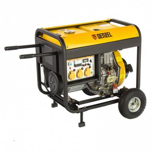 Генератор дизельный DD6300Е, 5.0 кВт, 220 В/50 Гц, 15 л, электростартер Denzel - 94657