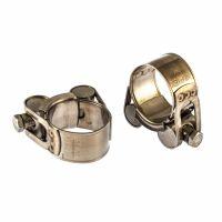 Хомуты металлические, силовые 26-28 мм, ширина 18 мм, шарнирный, W4, 2 шт Сибртех - 475093